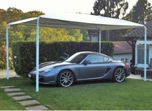 abri voiture toile tendue en pvc un carport auto pas cher promo. Black Bedroom Furniture Sets. Home Design Ideas