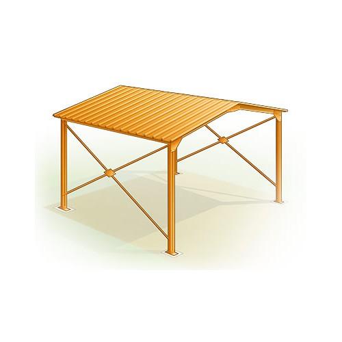 garage metallique large x m. Black Bedroom Furniture Sets. Home Design Ideas