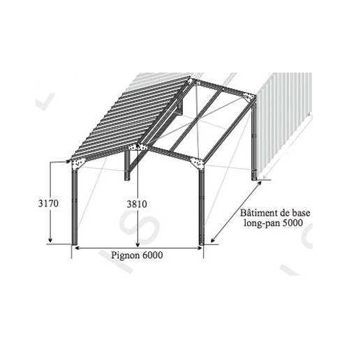 garage metallique en acier galvanise. Black Bedroom Furniture Sets. Home Design Ideas