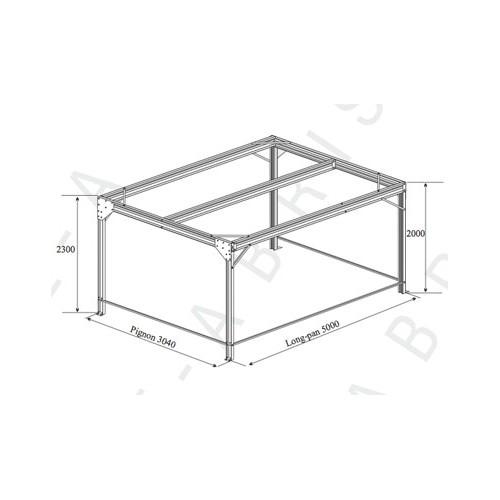 abri voiture simple pente 500 x 536 m. Black Bedroom Furniture Sets. Home Design Ideas
