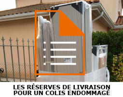 reserves livraison colis abime